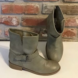 OLD NAVY Moto Ankle Boots Grey